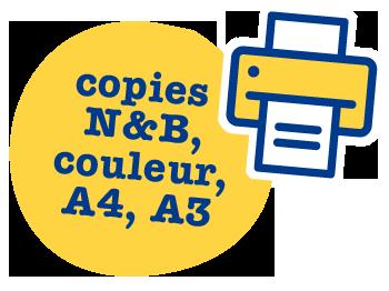 copies noir et blanc N&B, couleur, A4, A3, agence de communication et de reprographies Copy Com à Villeneuve de Berg en Ardèche