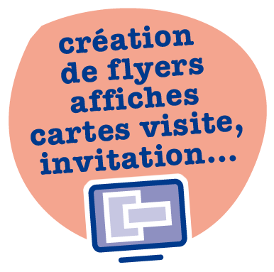 création de flyers, affiches, cartes de visite, invitations, agence de communication et de reprographies Copy Com à Villeneuve de Berg en Ardèche